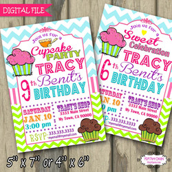 Cupcake Shop InviteSample