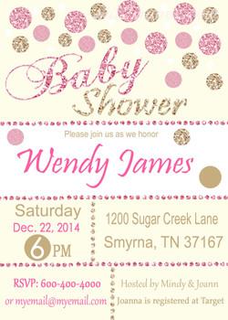 Baby Shower Glitter Pink2