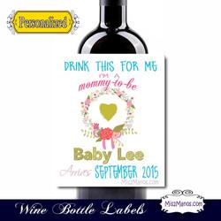 Wine Baby Shower 2 WhiteFlowersample2