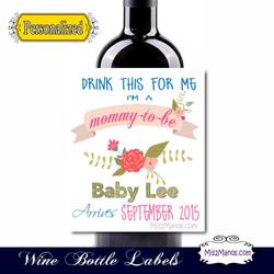 Wine Baby Shower 2 WhiteFlowersample
