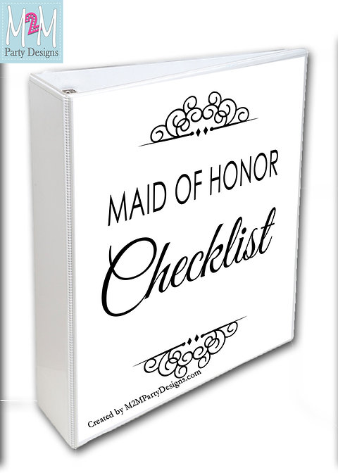 photo about Maid of Honor Printable Planner called Maid of Honor Printable Record and Planner