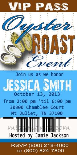 Oyster Roast Ticket Invite