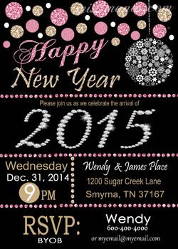 New Year Glitter Black Ball