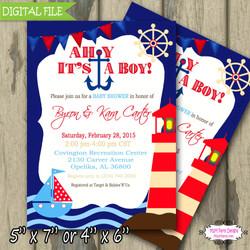 Ahoy baby Shower Blue6Sample