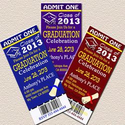 Grad Ticket Invite Sample 2