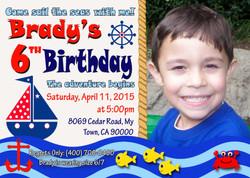 Sailboat birthday invitation5