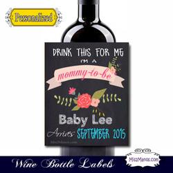 Wine Baby Shower 2 BlackFlowerSample