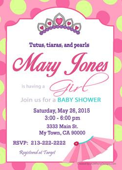 Baby shower girl Tutu and Tiarra3a