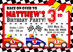Race Car5 Invite