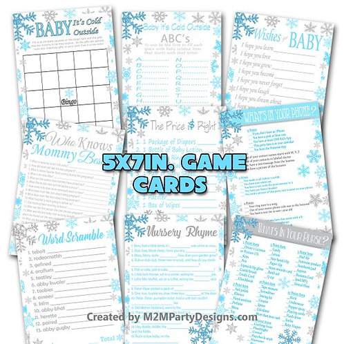 Baby Its Cold Outside Blue and Silver Snowflakes
