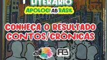 Sai resultado para o Concurso de Crônicas do Prêmio Apologia Brasil