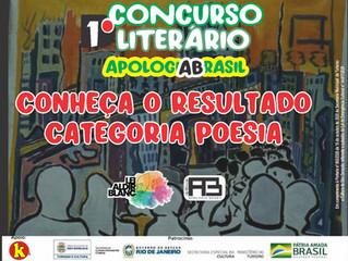 Sai resultado para o Concurso de Poesias do Prêmio Apologia Brasil