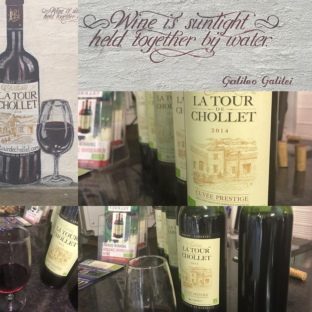 Wine tasting at Chateau Chollet