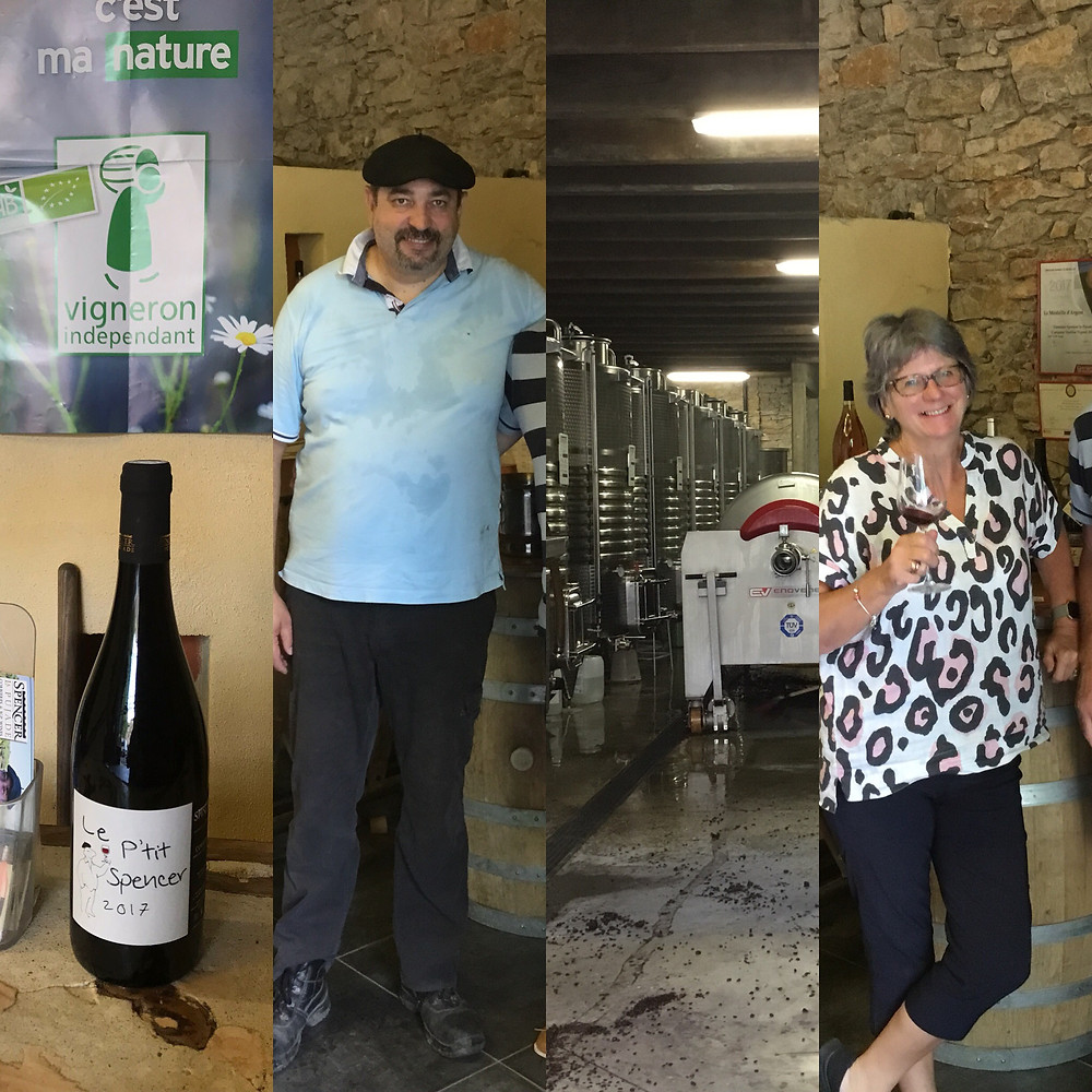 Wine tasting and buying at Chateau Spencer