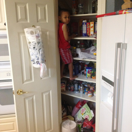 This is what I found when I opened the pantry door...