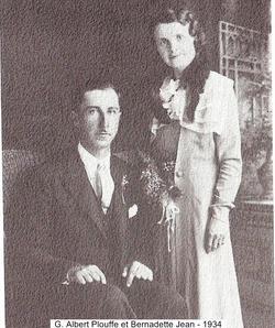 G.Albert Plouffe et Bernadette Jean 1934