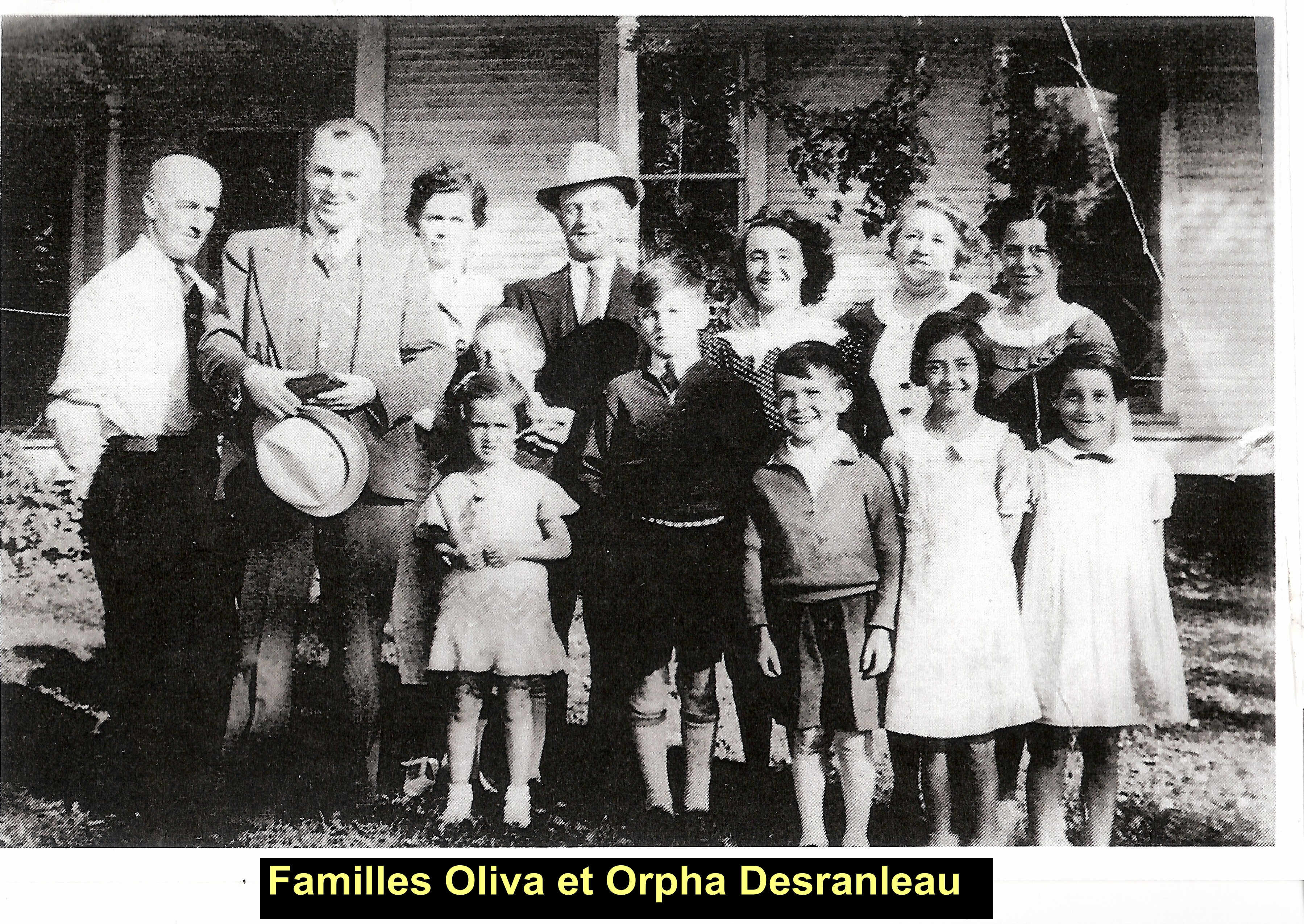 Familles Oliva et Orpha Desranleau