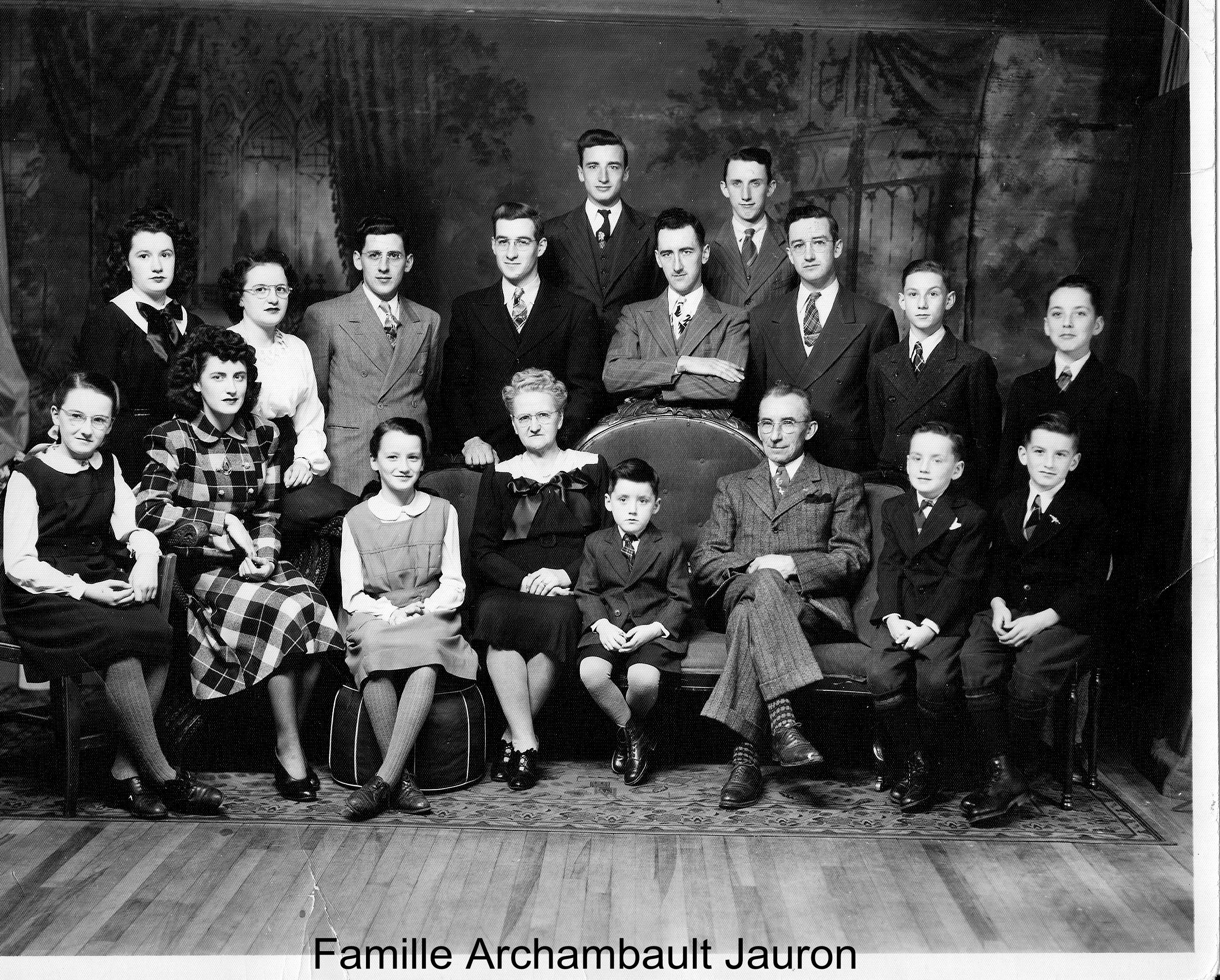 Famille Archambault Jauron