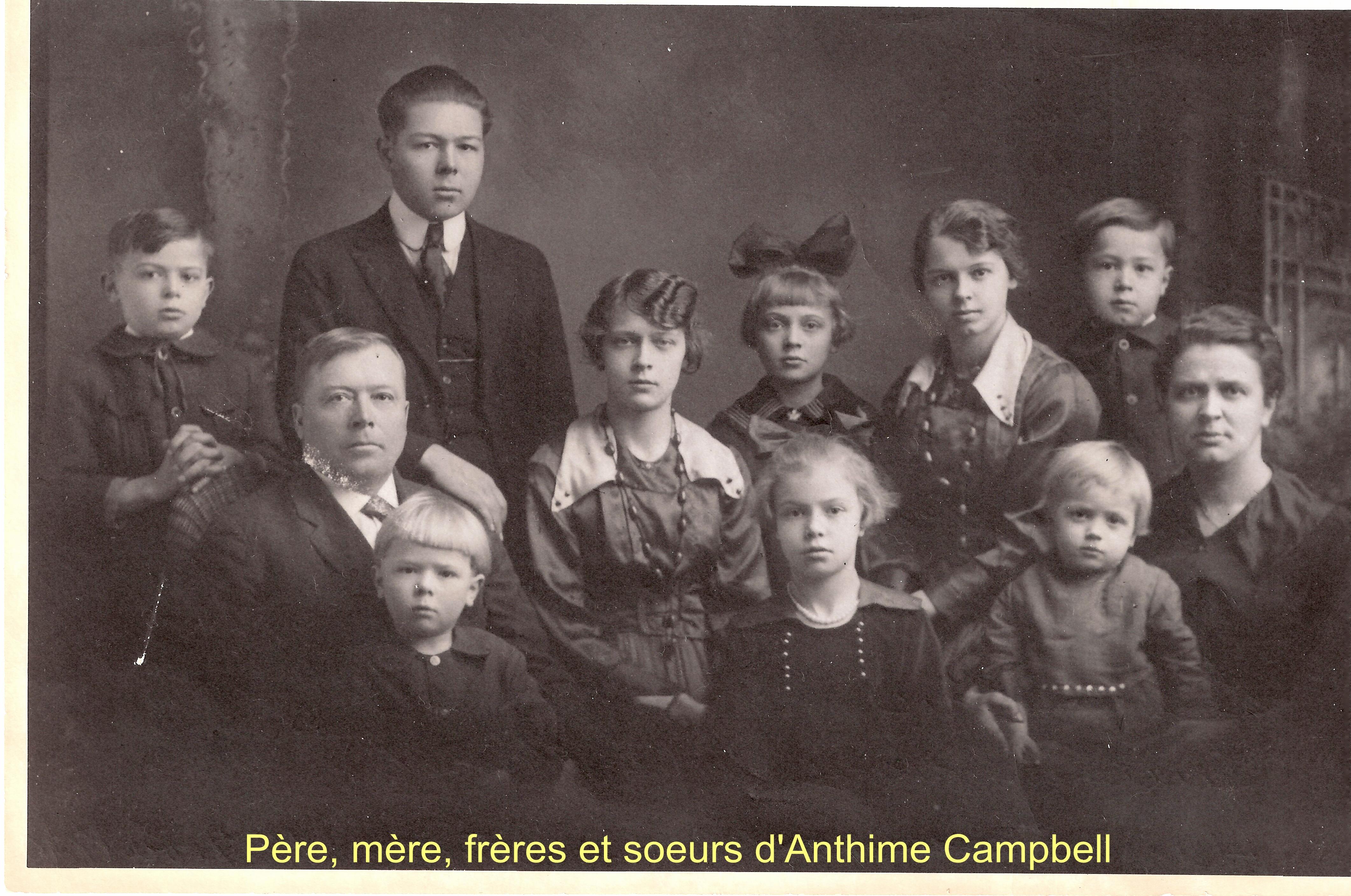 P+¿re, m+¿re, fr+¿res et soeurs de  Anthime Campbell