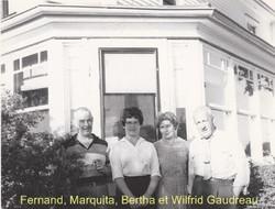 Gaudreau Fernand Marquita Bertha Wilfrid Gaudreau oncle de Fernand
