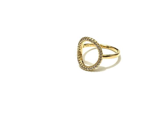 טבעת עיגול זרקונים