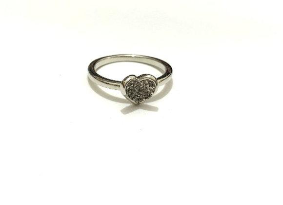 טבעת בצורת לב טבעות מעוצבות לרכישה אונליין טבעת לב משובצת עם זרקונים