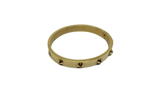 צמידים מעוצבים צמיד קשיח עם ניטים צמידים קשיחים זהב לרכישה אונליין