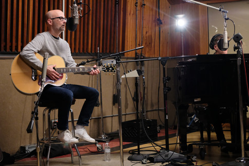 Moby in the studio...