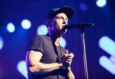 Lead singer and composer, Ryan Tedder in concert.