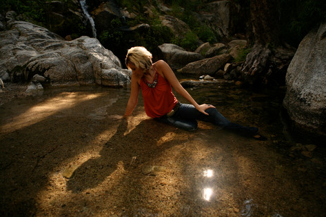 Girl in Forest Pool - Fine Art Photography for Hollywood Sets