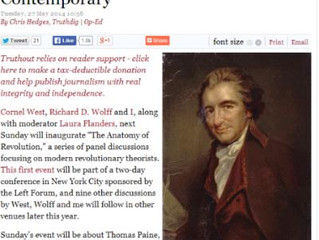 Chris Hedges | Thomas Paine, Our Contemporary