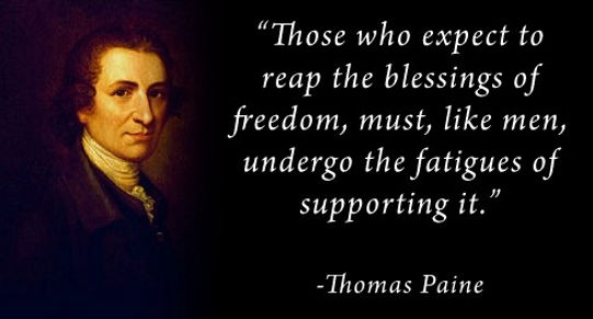 Thomas Paine Asks for Support