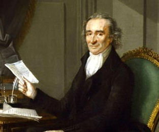 Thomas Paine with Pamphlet