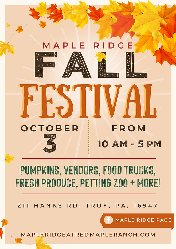 Pumpkin and Buntings Fall Festival Poste