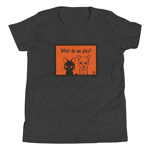 Whim and Sam (orange)Youth Short Sleeve T-Shirt