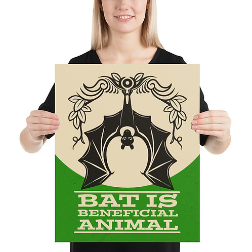 Bat Is Beneficial Animal Whim Poster
