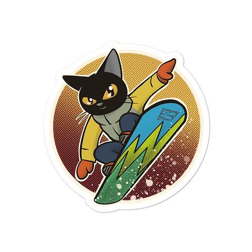 Snow boarding Bubble-free stickers