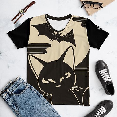 Black Moon Night All Over Print Women's T-shirt
