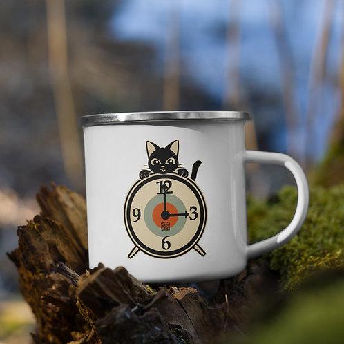 Clock Enamel Mug