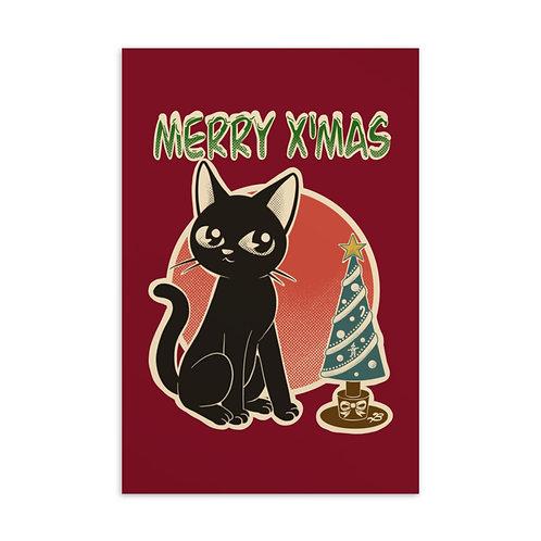 Merry X'mas Standard Postcard