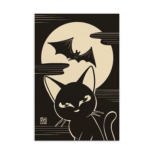 Black Moon Night Standard Postcard