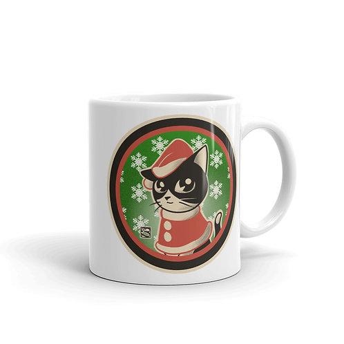 Xmas B&W Cat Mug