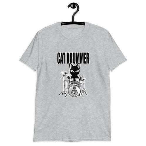 Cat Drummer Short-Sleeve Unisex T-Shirt