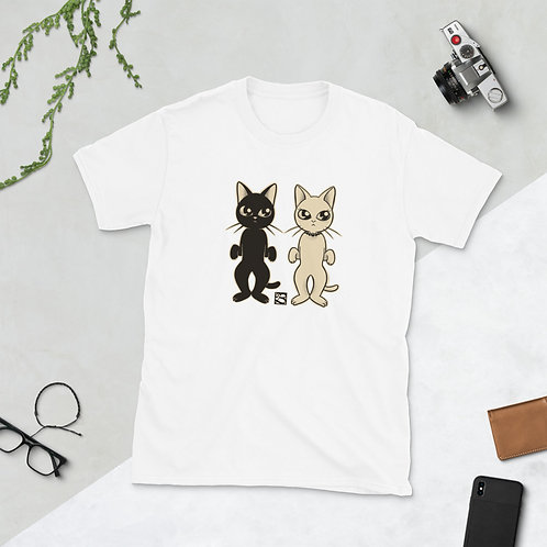 Two Cats Short-Sleeve Unisex T-Shirt