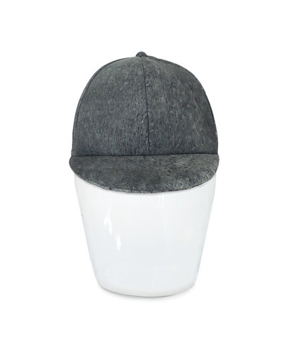 Giuditta Washed Charcoal Leather Cap