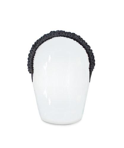Eleonora Black Leather Headpiece