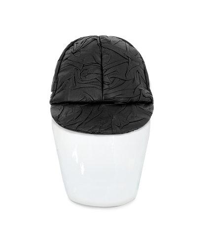 Livia Crinkle Leather Cap