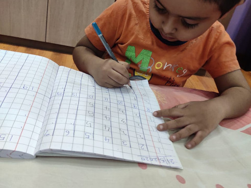 Art of writing eight (आठ लिखने की कला)