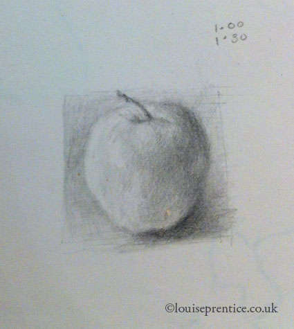 Small apple drawing