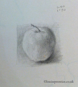 Tiny apple sketch